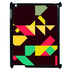 Shapes In Retro Colors 2 Apple Ipad 2 Case (black) by LalyLauraFLM