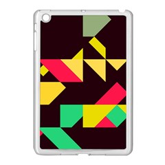 Shapes In Retro Colors 2 Apple Ipad Mini Case (white) by LalyLauraFLM