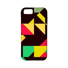 Shapes In Retro Colors 2 Apple Iphone 5 Classic Hardshell Case (pc+silicone) by LalyLauraFLM