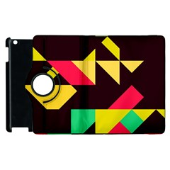 Shapes In Retro Colors 2 Apple Ipad 3/4 Flip 360 Case