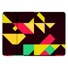 Shapes In Retro Colors 2 Samsung Galaxy Tab 8 9  P7300 Flip Case by LalyLauraFLM