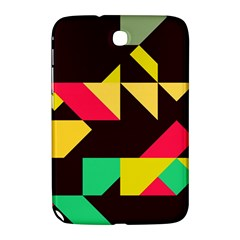Shapes In Retro Colors 2 Samsung Galaxy Note 8 0 N5100 Hardshell Case  by LalyLauraFLM