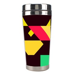 Shapes In Retro Colors 2 Stainless Steel Travel Tumbler