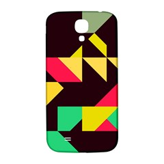 Shapes In Retro Colors 2 Samsung Galaxy S4 I9500/i9505  Hardshell Back Case by LalyLauraFLM