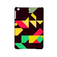 Shapes In Retro Colors 2 Apple Ipad Mini 2 Hardshell Case by LalyLauraFLM