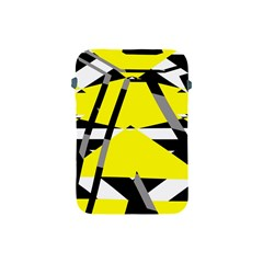 Yellow, Black And White Pieces Abstract Design Apple Ipad Mini Protective Soft Case by LalyLauraFLM