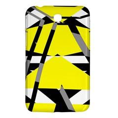 Yellow, Black And White Pieces Abstract Design Samsung Galaxy Tab 3 (7 ) P3200 Hardshell Case  by LalyLauraFLM