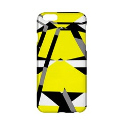 Yellow, Black And White Pieces Abstract Design Apple Iphone 6 Hardshell Case by LalyLauraFLM