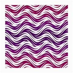 Purple Waves Pattern Glasses Cloth (medium) by LalyLauraFLM