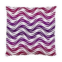Purple Waves Pattern Standard Cushion Case (two Sides) by LalyLauraFLM
