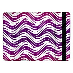 Purple Waves Pattern Samsung Galaxy Tab Pro 12 2  Flip Case by LalyLauraFLM