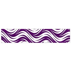 Purple Waves Pattern Flano Scarf (small) by LalyLauraFLM