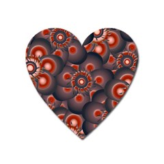 Modern Floral Decorative Pattern Print Magnet (heart) by dflcprints