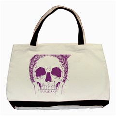 Purple Skull Bun Up Classic Tote Bag by vividaudacity