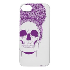 Purple Skull Bun Up Apple Iphone 5s Hardshell Case