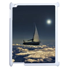 Navigating Trough Clouds Dreamy Collage Photography Apple Ipad 2 Case (white) by dflcprints