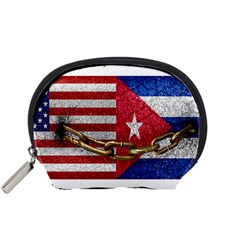 United States And Cuba Flags United Design Accessory Pouch (small) by dflcprints