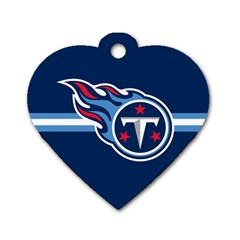 Tennessee Titans National Football League Nfl Teams Afc Dog Tag Heart (one Sided)  by SportMart