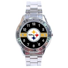 Pittsburgh Steelers National Football League Nfl Teams Afc Stainless Steel Watch by SportMart