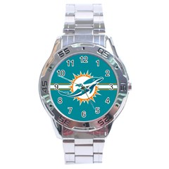 Miami Dolphins National Football League Nfl Teams Afc Stainless Steel Watch by SportMart