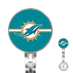 Miami Dolphins National Football League Nfl Teams Afc Stainless Steel Nurses Watch by SportMart