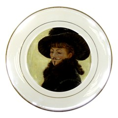 Kathleen Anonymous Ipad Porcelain Display Plate by AnonMart
