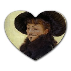 Kathleen Anonymous Ipad Mouse Pad (heart) by AnonMart