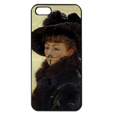 Kathleen Anonymous Ipad Apple Iphone 5 Seamless Case (black) by AnonMart