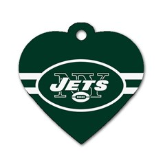 New York Jets National Football League Nfl Teams Afc Dog Tag Heart (one Sided)  by SportMart