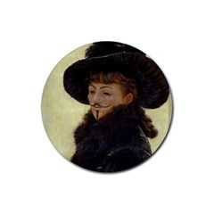 Kathleen Anonymous   James Tissot, 1877 Rubber Coaster (round) by AnonMart