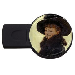 Kathleen Anonymous   James Tissot, 1877 Usb Flash Drive Round (4 Gb) by AnonMart
