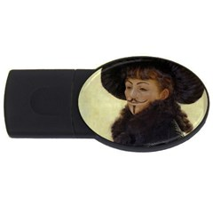 Kathleen Anonymous   James Tissot, 1877 Usb Flash Drive Oval (4 Gb) by AnonMart