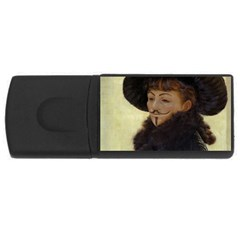Kathleen Anonymous   James Tissot, 1877 Usb Flash Drive Rectangular (4 Gb) by AnonMart