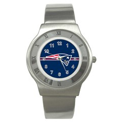 New England Patriots National Football League Nfl Teams Afc Stainless Steel Watch (slim)
