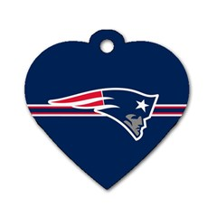 New England Patriots National Football League Nfl Teams Afc Dog Tag Heart (one Sided)  by SportMart