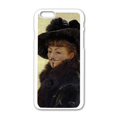 Kathleen Anonymous Ipad Apple Iphone 6 White Enamel Case by AnonMart