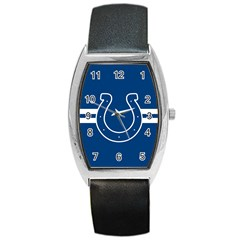 Indianapolis Colts National Football League Nfl Teams Afc Tonneau Leather Watch by SportMart