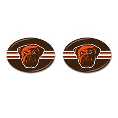 Cleveland Browns National Football League Nfl Teams Afc Cufflinks (oval) by SportMart
