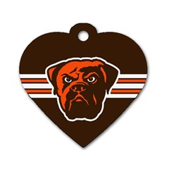 Cleveland Browns National Football League Nfl Teams Afc Dog Tag Heart (one Sided)  by SportMart