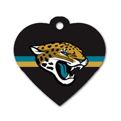Jacksonville Jaguars National Football League Nfl Teams Afc Dog Tag Heart (two Sided) by SportMart