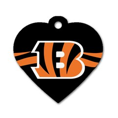 Cincinnati Bengals National Football League Nfl Teams Afc Dog Tag Heart (two Sided) by SportMart