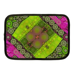 Florescent Pink Green  Netbook Sleeve (medium) by OCDesignss