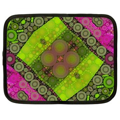 Florescent Pink Green  Netbook Sleeve (large) by OCDesignss