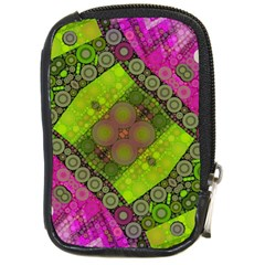 Florescent Pink Green  Compact Camera Leather Case by OCDesignss