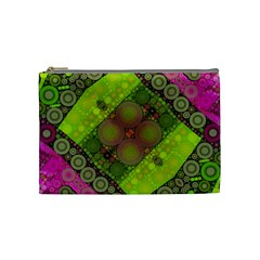 Florescent Pink Green  Cosmetic Bag (medium) by OCDesignss