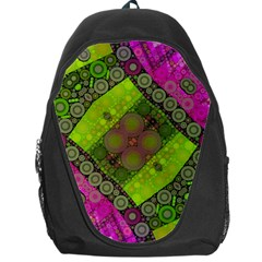 Florescent Pink Green  Backpack Bag by OCDesignss