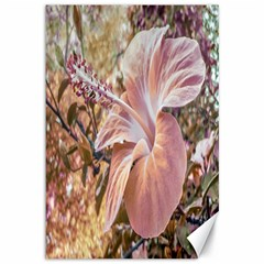 Fantasy Colors Hibiscus Flower Digital Photography Canvas 12  X 18  (unframed) by dflcprints
