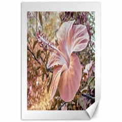 Fantasy Colors Hibiscus Flower Digital Photography Canvas 24  X 36  (unframed) by dflcprints