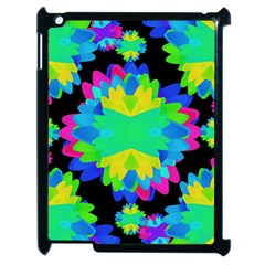 Multicolored Floral Print Geometric Modern Pattern Apple Ipad 2 Case (black) by dflcprints