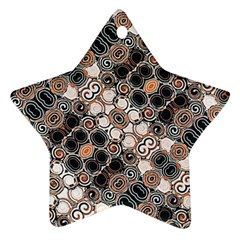 Modern Arabesque Pattern Print Star Ornament (two Sides) by dflcprints
